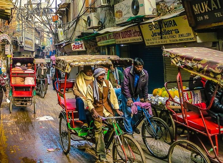 Delhi streets India