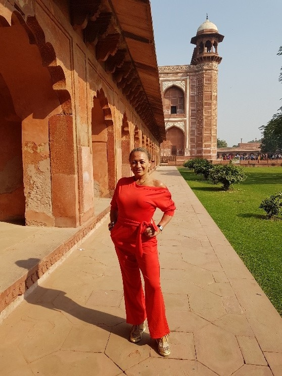 Taj Mahal standing outside