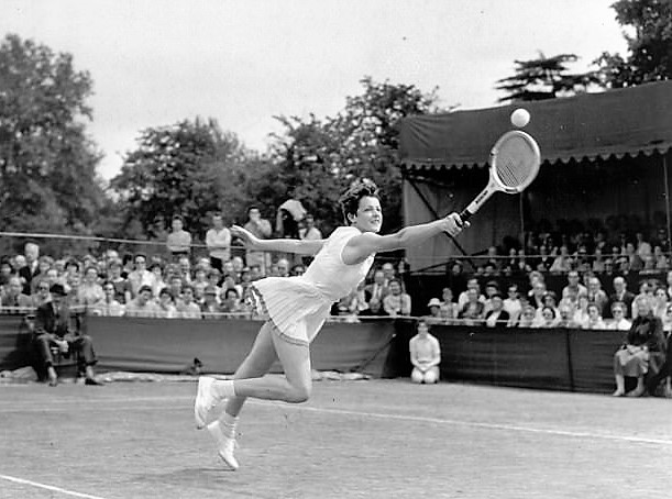 old picture of female tennis player ASB