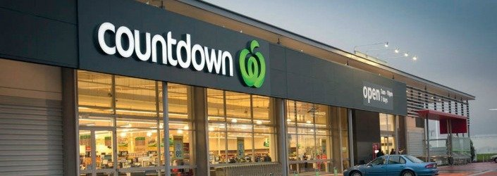 Countdown Superrmarket new zealand fasade